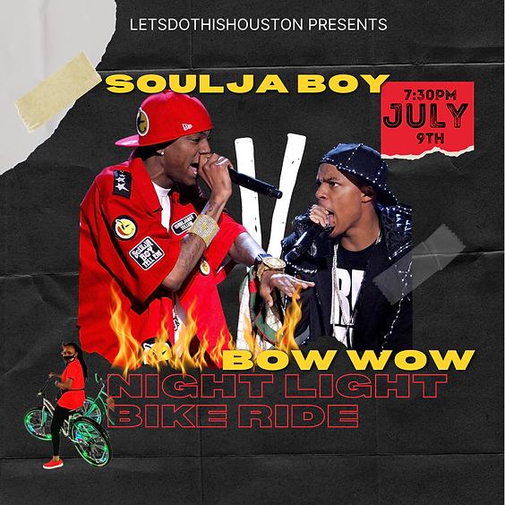 Soulja Boy VS Bow Wow Night Light Bike Ride