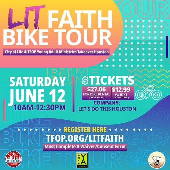 TFOP & The City of Life Young Adults Ministry Bike Tour (Private Event)