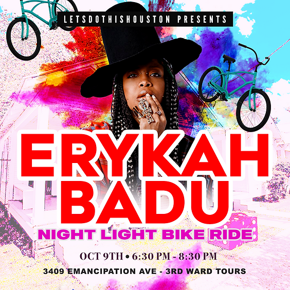 Erykah Badu Night Light Bike Ride