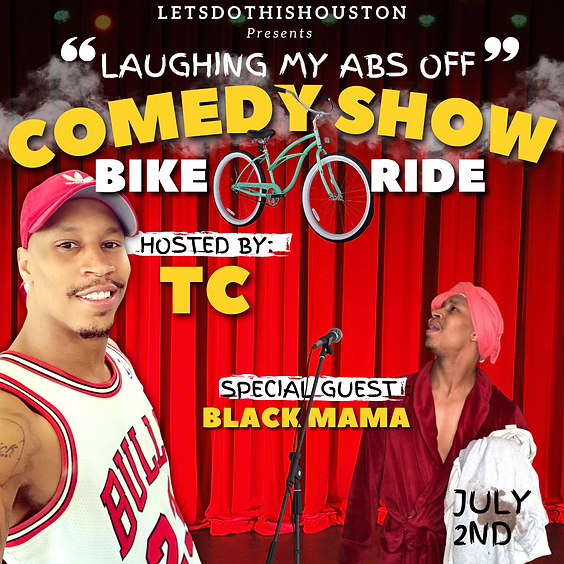 """The """"Laughing My ABs Off"""" Comedy Show Bike Ride with TC"""