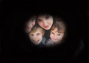 Visió simulada d´una persona amb glaucoma, que provoca una pèrdua de camp perifèric important
