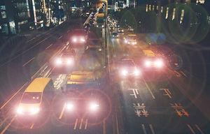 Imatge simulada de la visió a la nit sense antireflexant
