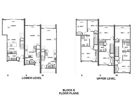 Parklands Block E Unit Floor Plans