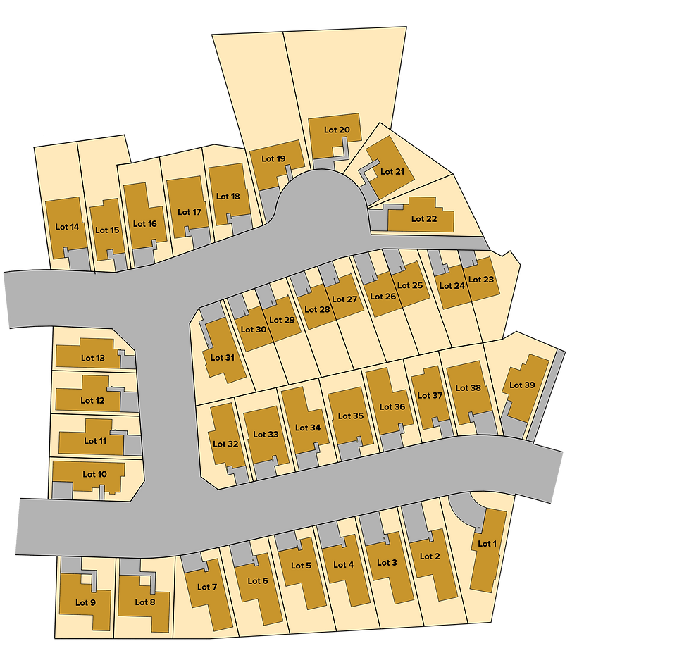 Manapouri Grove - Stage 1 site map