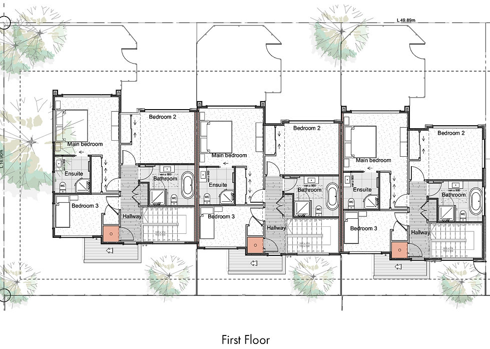 Wai-iti Lane Units 1, 2 & 3 Floor Plans