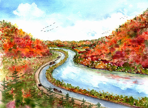 Autumn Journey On The Erie Canal