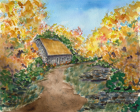 Autumn At The Thatched Cottage
