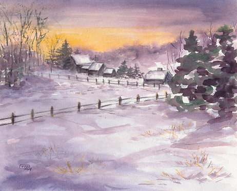 Winter At Sunrise