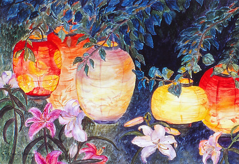 Lilies By Lantern Light
