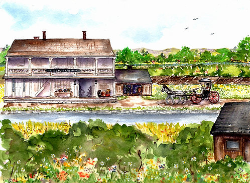 Springtime At The Fineour Store Along The Erie Canal