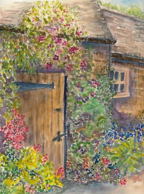 Barn Door In Bloom