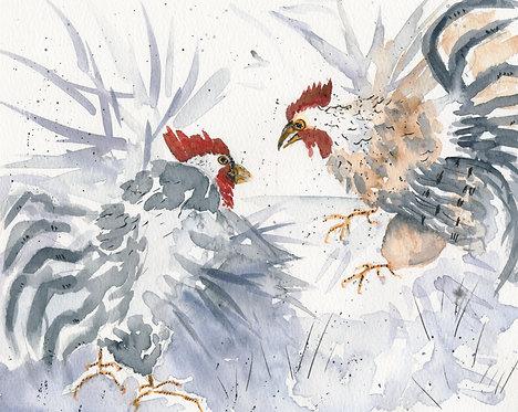 Ruffled Feathers After Lian Zhen