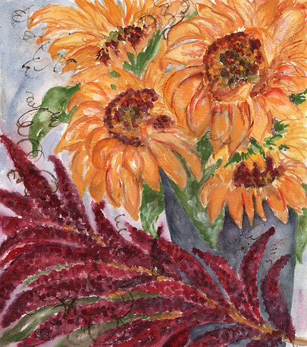 Sunflowers & Amaranth