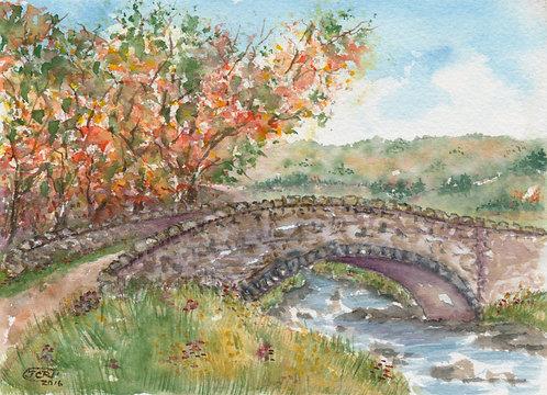 Autumn At The Bridge