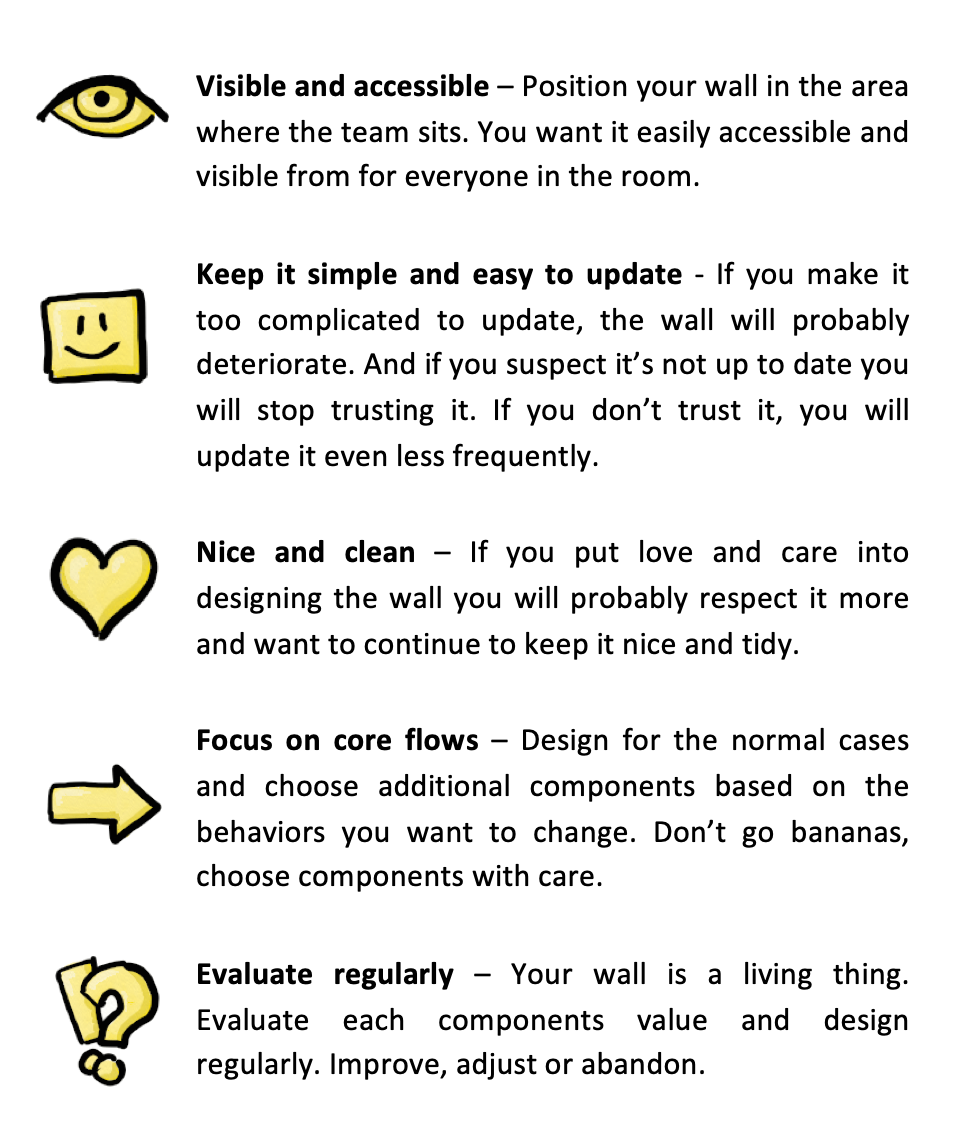 Important things to keep in mind for preparing an awesome scrum wall