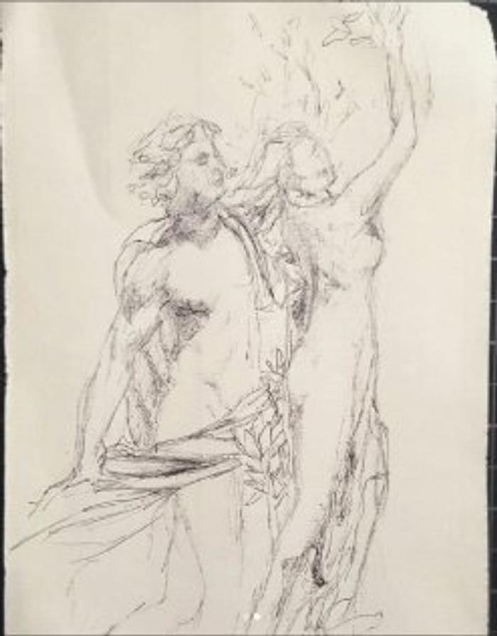 Sketch-of-Bernini-Statue