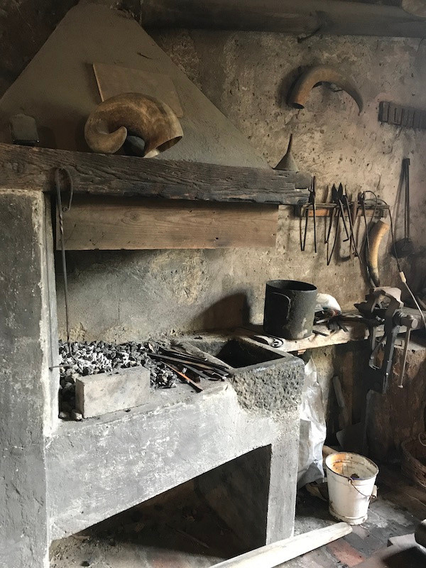the knifemaking workshop preserved with tools they used