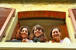 italian girls in window locals