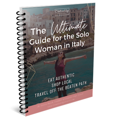 the ultimate guide for the solo woman in Italy e-book mockup