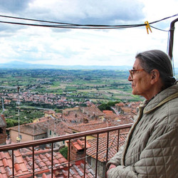 local nonna in italy tuscan view