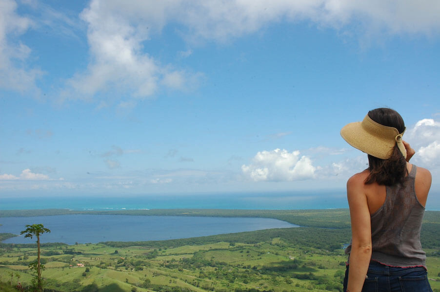 Girl overlooking panoramic view