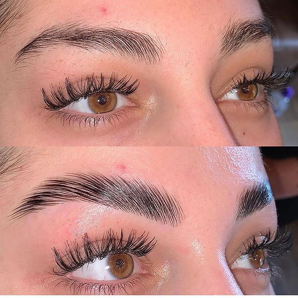 Eyebrow Lamination in Adelaide - Before and after photos