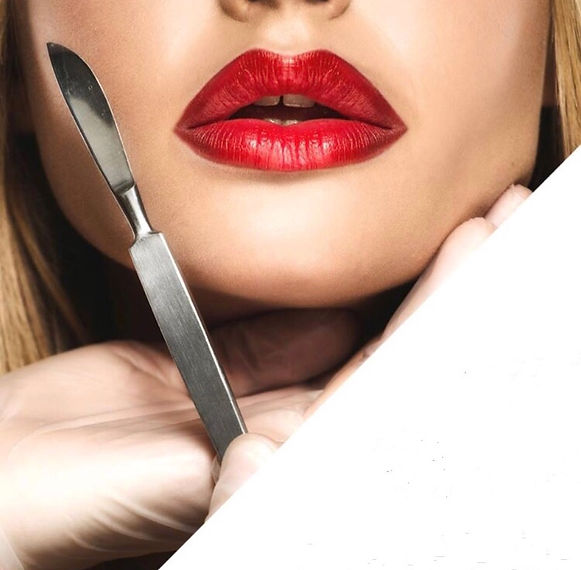 Dermaplaning in Adelaide - Benefits - Model With Scalpel
