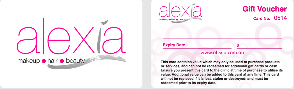 Gift Cards | Alexia Makeup • Hair • Beauty