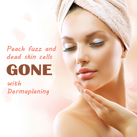 Dermaplaning Removes Peach Fuzz - Model With Closed Eyes