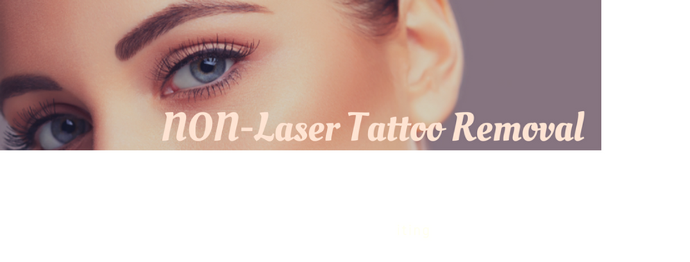 Non Laser Tattoo Removal in Adelaide - Saline Treatment on Eyebrows