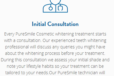 teeth whitening consultation