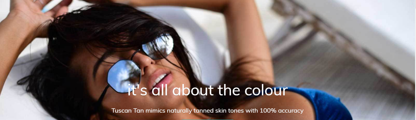 Professional Spray Tan in Adelaide - Tuscan Tan Model With Sunglasses