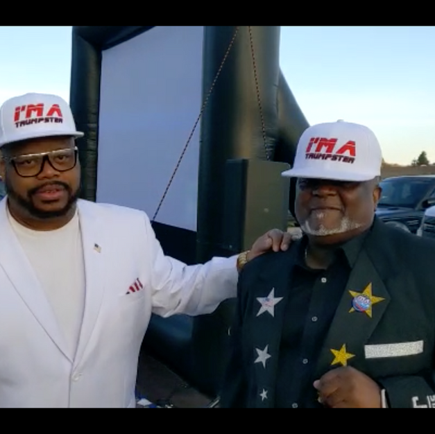 reggie n johnny pic outside video event