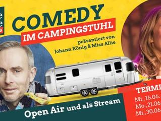 """""""Comedy im Campingstuhl"""" - die Saison ist eröffnet"""