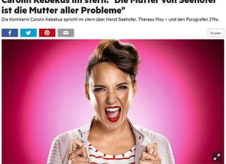 """Carolin Kebekus im stern: """"Die Mutter von Seehofer ist die Mutter aller Probleme"""""""