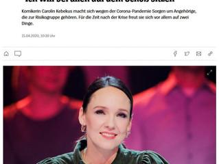 """Carolin Kebekus im dpa-Gespräch: """"Ich will bei allen auf dem Schoß sitzen"""""""