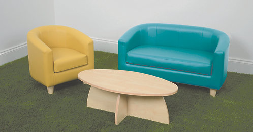 Sofa Suite Set with Low Table