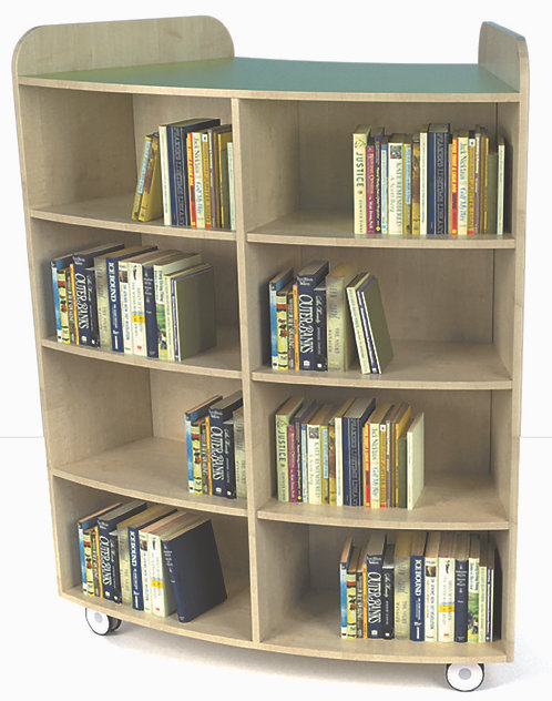 1500mm High Junior Curved Bookcase