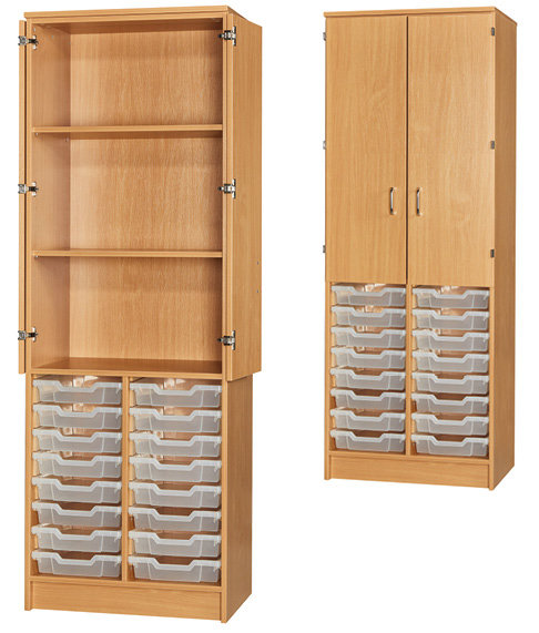 16 Tray Cupboard - Half Doors