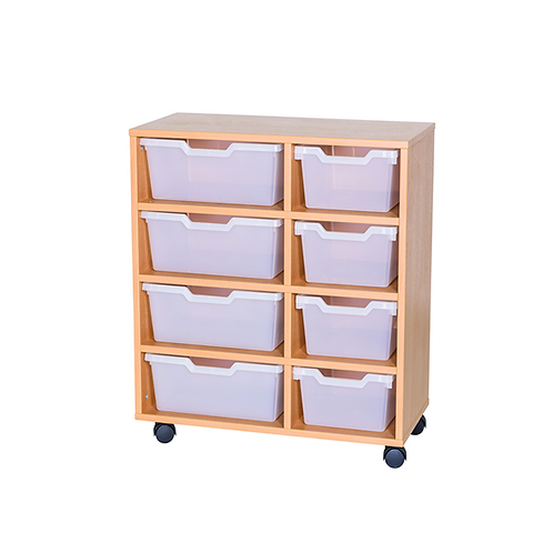 4 Deep & 4 Wide Cubby Tray Double