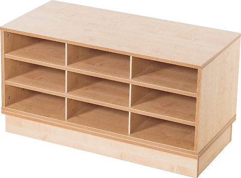 KubbyClass 9 Space A3 Fixed Shelf Unit