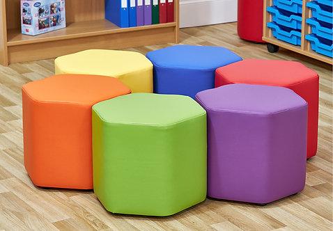 Mini Hexagon Foam Seats - Set of Six