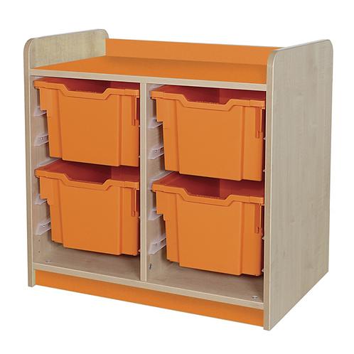 KubbyClass Double Column Combination Tray Unit (4x X3 Trays)