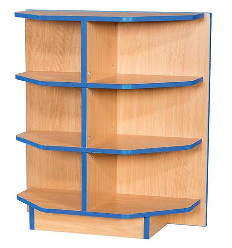 End Cap Flat Top Fixed Shelf Bookcase