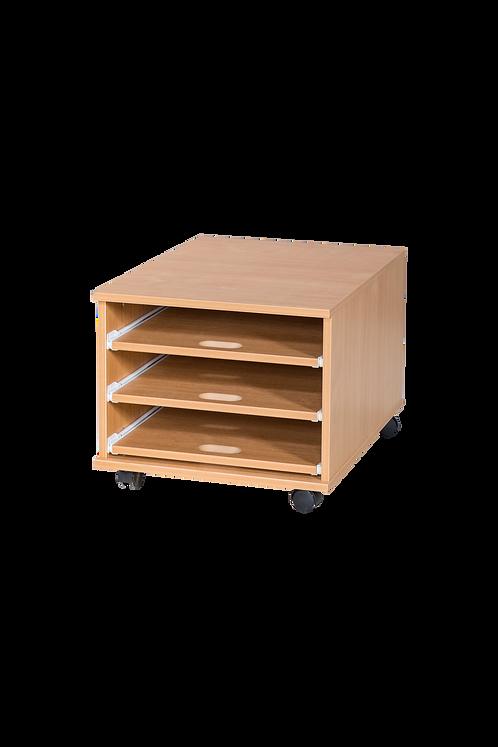 3 Sliding Shelves A2 Paper Storage - Mobile