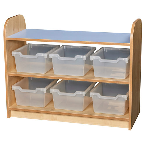 2 Tier Tray Unit with Open Back
