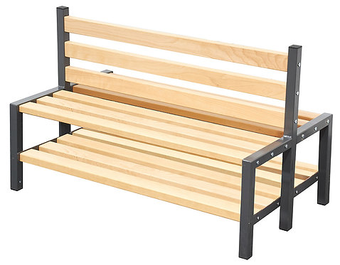 1200mm Double Sided Seat with Shoe Rack