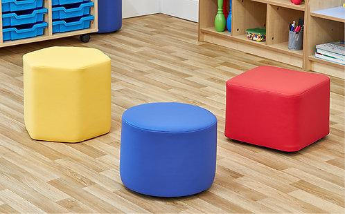 Simple Shapes Foam Seats - Set of Three