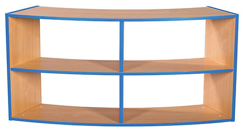 2 Tier Curved Open Back 2+2 Shelf Unit