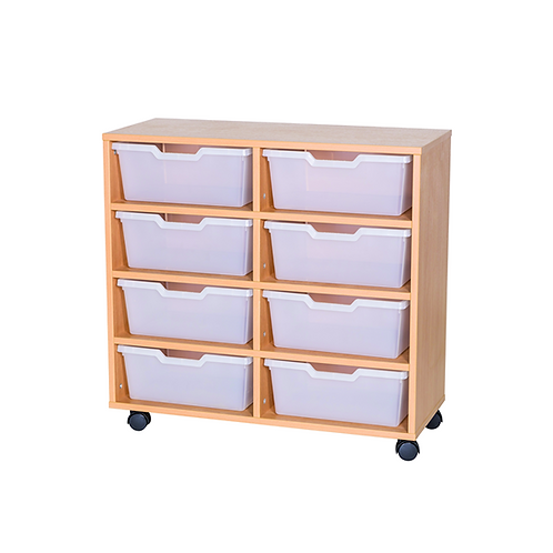 8 Wide Cubby Tray Double